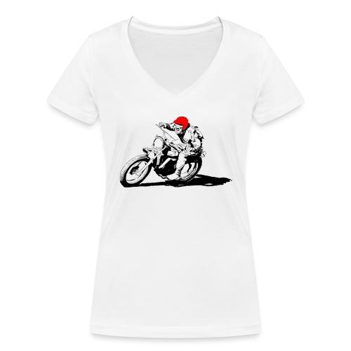 Scrambler - T-shirt ecologica da donna con scollo a V di Stanley & Stella