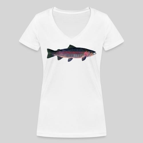 Trout - Stanley & Stellan naisten v-aukkoinen luomu-T-paita
