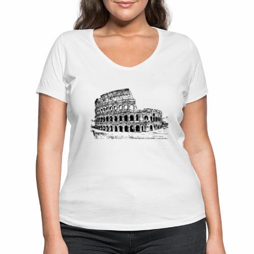 Kolosseum - Frauen Bio-T-Shirt mit V-Ausschnitt von Stanley & Stella