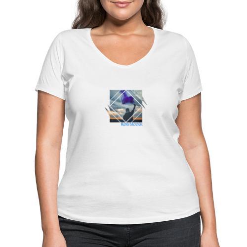 Pyro Lila - Frauen Bio-T-Shirt mit V-Ausschnitt von Stanley & Stella
