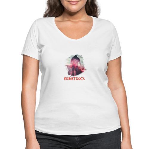 Pyro Red - Frauen Bio-T-Shirt mit V-Ausschnitt von Stanley & Stella