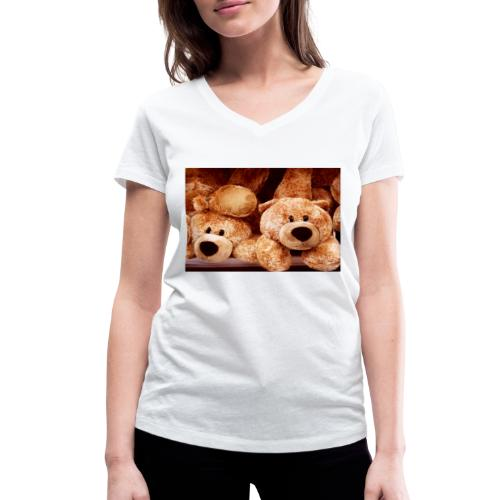 Glücksbären - Frauen Bio-T-Shirt mit V-Ausschnitt von Stanley & Stella
