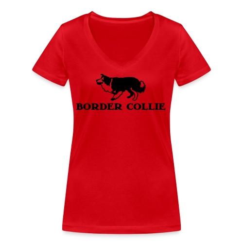 Border Collie 4 - Frauen Bio-T-Shirt mit V-Ausschnitt von Stanley & Stella