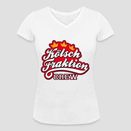 KölschFraktion CREW - Frauen Bio-T-Shirt mit V-Ausschnitt von Stanley & Stella