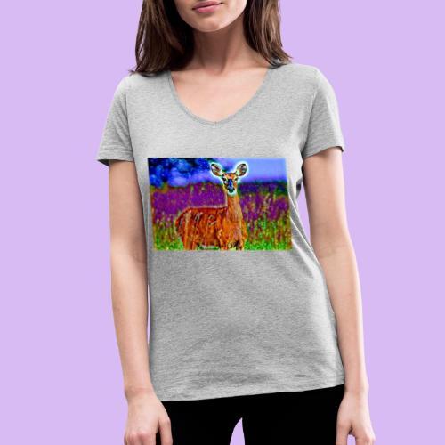Cerbiatto con magici effetti - T-shirt ecologica da donna con scollo a V di Stanley & Stella