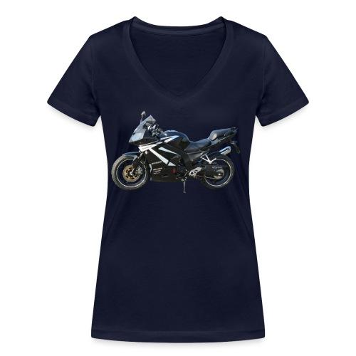 snm daelim roadwin r side png - Frauen Bio-T-Shirt mit V-Ausschnitt von Stanley & Stella