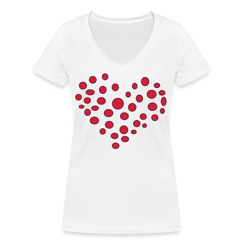 Polka - Økologisk Stanley & Stella T-shirt med V-udskæring til damer