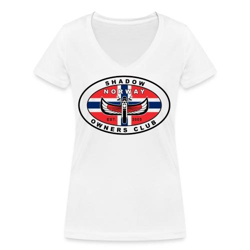 SHOC Norway Patch jpg - Økologisk T-skjorte med V-hals for kvinner fra Stanley & Stella
