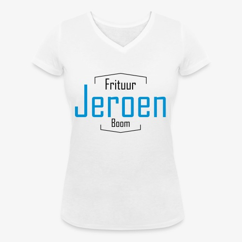 LogoJeroen - Vrouwen bio T-shirt met V-hals van Stanley & Stella
