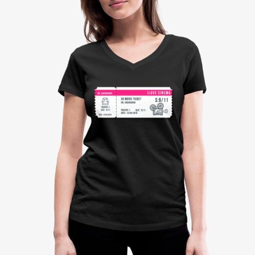Cinema 2 - Camiseta ecológica mujer con cuello de pico de Stanley & Stella