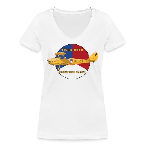 Tiger Moth Kon Marine - Women's Organic V-Neck T-Shirt by Stanley & Stella