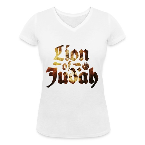 Lion of Judah - Rastafari Paw - Frauen Bio-T-Shirt mit V-Ausschnitt von Stanley & Stella