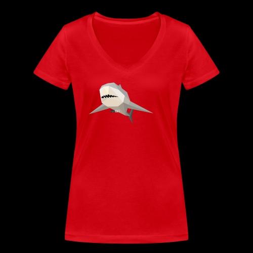 SHARK COLLECTION - T-shirt ecologica da donna con scollo a V di Stanley & Stella