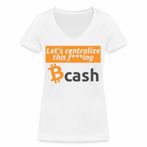 Bcash centralized - T-shirt ecologica da donna con scollo a V di Stanley & Stella