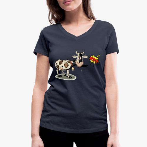 Vaquita - Camiseta ecológica mujer con cuello de pico de Stanley & Stella