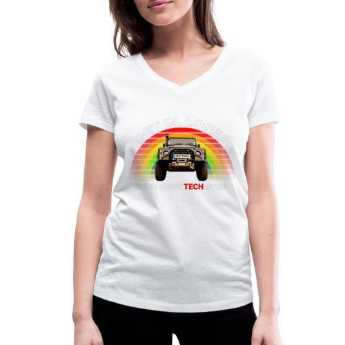 We're Doing Tech Stuff - Women's Organic V-Neck T-Shirt by Stanley & Stella