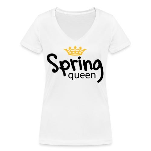 Springqueen - Frauen Bio-T-Shirt mit V-Ausschnitt von Stanley & Stella