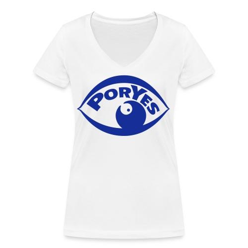 logo poryes lila - Frauen Bio-T-Shirt mit V-Ausschnitt von Stanley & Stella