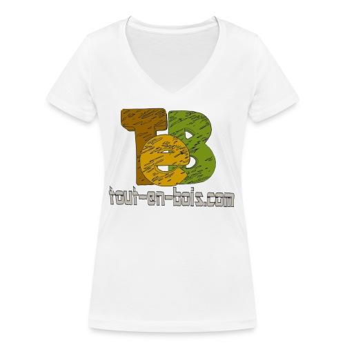 logo TEB classique - T-shirt bio col V Stanley & Stella Femme