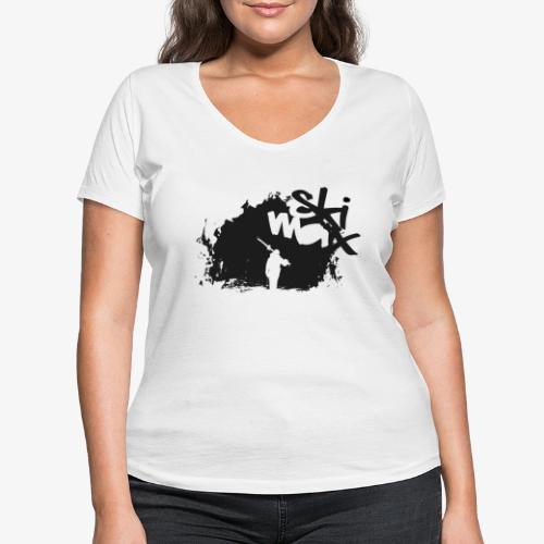 Ski Max - Women's Organic V-Neck T-Shirt by Stanley & Stella