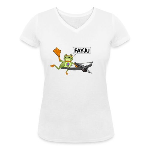 Amazing Frog Crossbow - Women's Organic V-Neck T-Shirt by Stanley & Stella