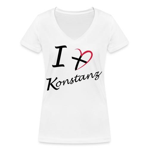 Konstanz Liebe - Frauen Bio-T-Shirt mit V-Ausschnitt von Stanley & Stella