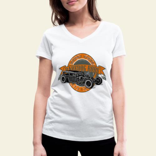 Raredog Rods Logo - Økologisk Stanley & Stella T-shirt med V-udskæring til damer