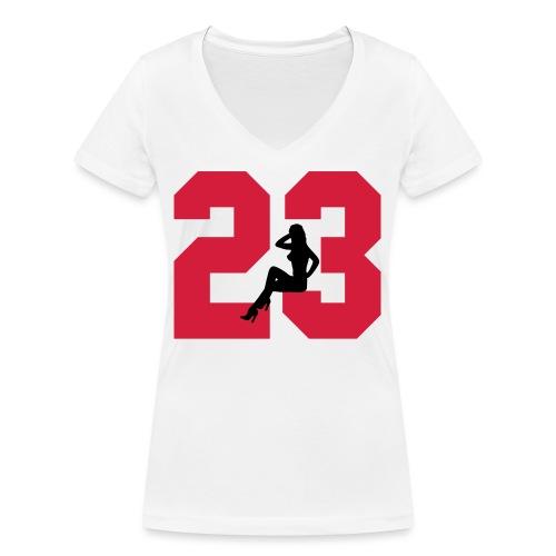Sexy Dreiungzwanzig / 23 - Frauen Bio-T-Shirt mit V-Ausschnitt von Stanley & Stella