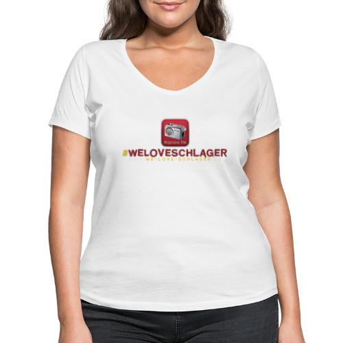 WeLoveSchlager de - Frauen Bio-T-Shirt mit V-Ausschnitt von Stanley & Stella