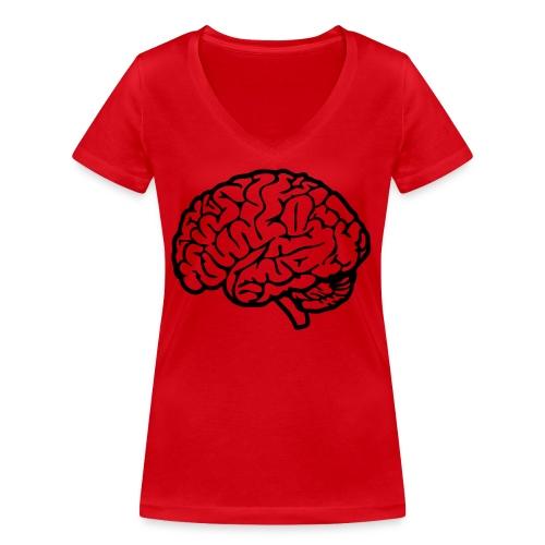 cerveau - T-shirt bio col V Stanley & Stella Femme