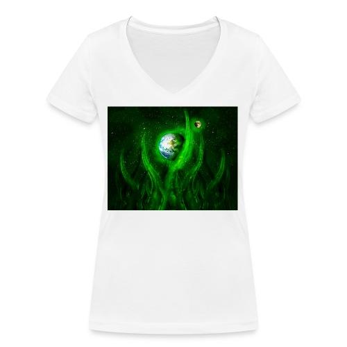 Cthulhu Rising - Frauen Bio-T-Shirt mit V-Ausschnitt von Stanley & Stella