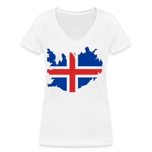 Iceland - Vrouwen bio T-shirt met V-hals van Stanley & Stella