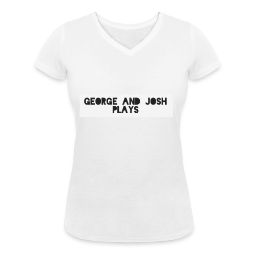 George-and-Josh-Plays-Merch - Women's Organic V-Neck T-Shirt by Stanley & Stella