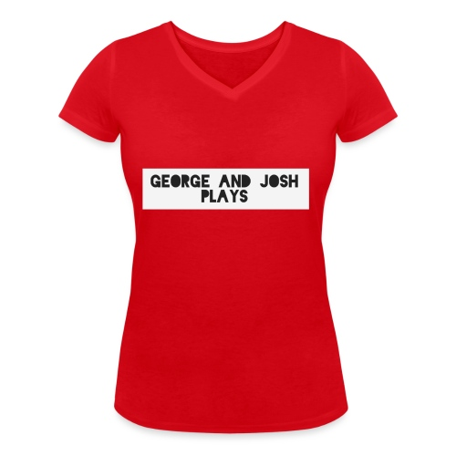 George-and-Josh-Plays-Merch - Women's Organic V-Neck T-Shirt by Stanley & Stella