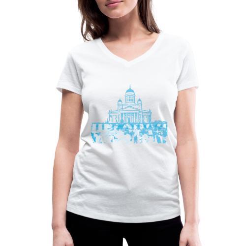 Helsinki Cathedral - Women's Organic V-Neck T-Shirt by Stanley & Stella