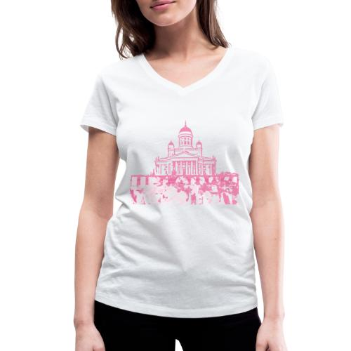 Helsinki Cathedral - Women's Organic V-Neck T-Shirt by Stanley & Stella