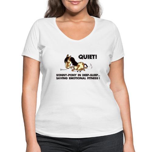 QUIET Sonny Pony in deep sleep - Frauen Bio-T-Shirt mit V-Ausschnitt von Stanley & Stella