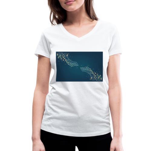 Du & Ich - Frauen Bio-T-Shirt mit V-Ausschnitt von Stanley & Stella
