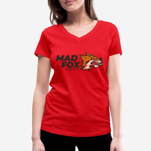 mad crazy fox - Frauen Bio-T-Shirt mit V-Ausschnitt von Stanley & Stella
