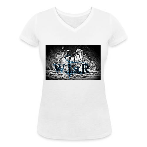 Naisten T-Paita - Stanley & Stellan naisten v-aukkoinen luomu-T-paita