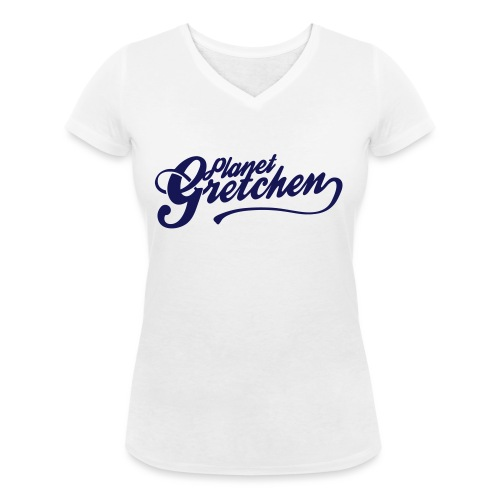 Planet Gretchen svart - Ekologisk T-shirt med V-ringning dam från Stanley & Stella