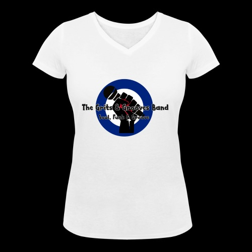 Grits & Grooves Band - Women's Organic V-Neck T-Shirt by Stanley & Stella
