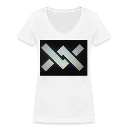 Original Movement Mens black t-shirt - Women's Organic V-Neck T-Shirt by Stanley & Stella