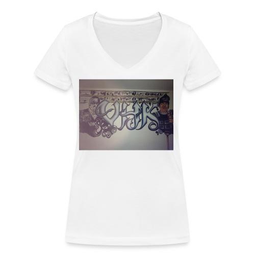 Værebro - Økologisk Stanley & Stella T-shirt med V-udskæring til damer