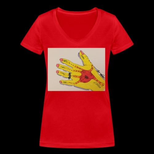 9D8D600F D04D 4BA7 B0EE 60442C72919B - Økologisk Stanley & Stella T-shirt med V-udskæring til damer
