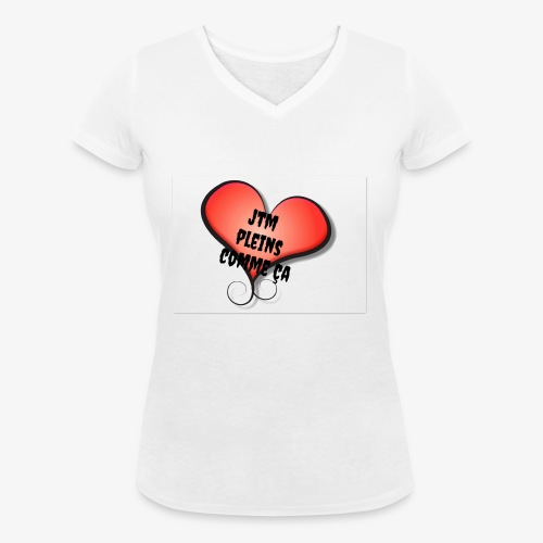 saint valentin coeur amour - T-shirt bio col V Stanley & Stella Femme