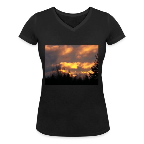 Iltarusko - Stanley & Stellan naisten v-aukkoinen luomu-T-paita