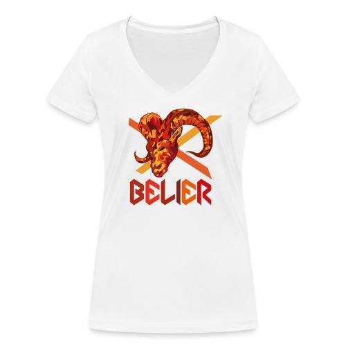 BELIER - T-shirt bio col V Stanley & Stella Femme