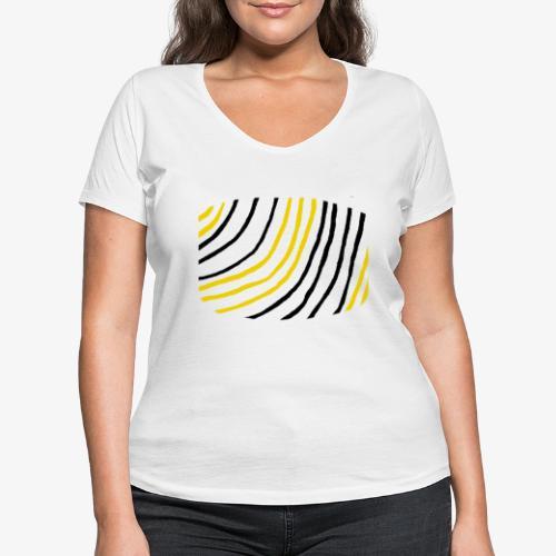 Raidat - Stanley & Stellan naisten v-aukkoinen luomu-T-paita
