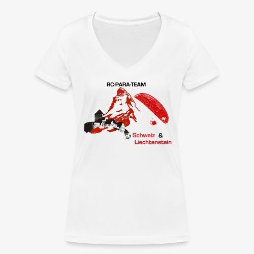 RC-Parateam Schweiz & Liechtenstein - Frauen Bio-T-Shirt mit V-Ausschnitt von Stanley & Stella